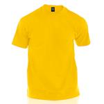 camiseta de algodón amarilla