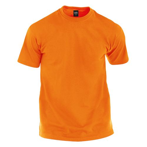 camiseta de algodón naranja