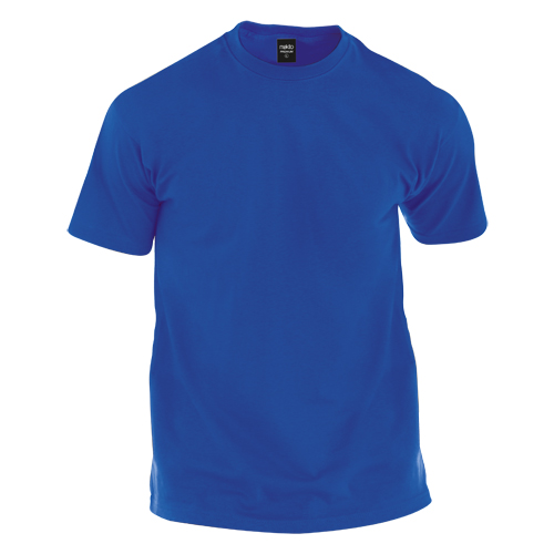 camiseta de algodón azul royal