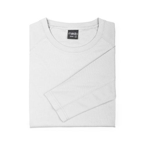camiseta técnica de manga larga blanca