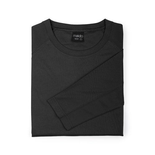 camiseta técnica de manga larga negra