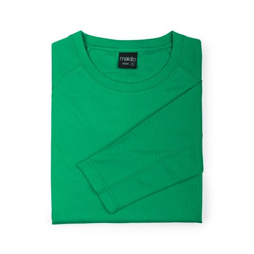 camiseta técnica de manga larga verde