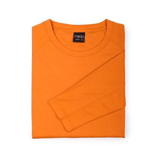 camiseta técnica de manga larga naranja