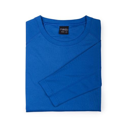 camiseta técnica manga larga azul royal