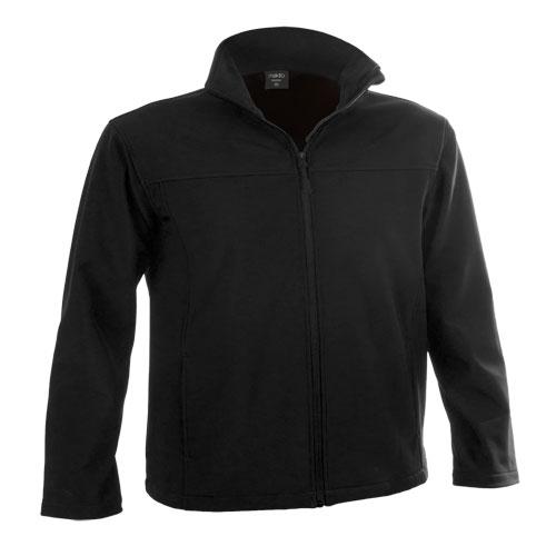 chaqueta softshell negra