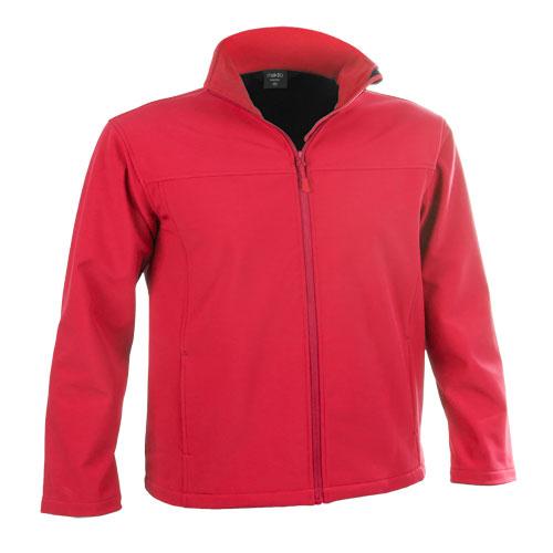 chaqueta softshell roja