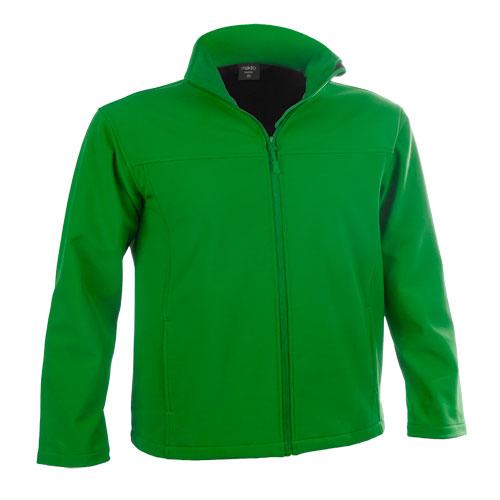 chaqueta softshell verde