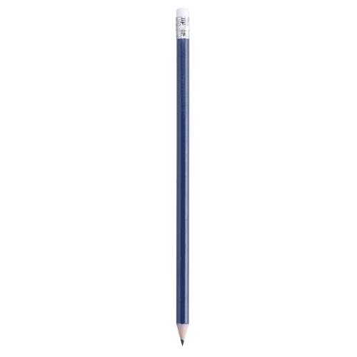 lápiz con goma azul
