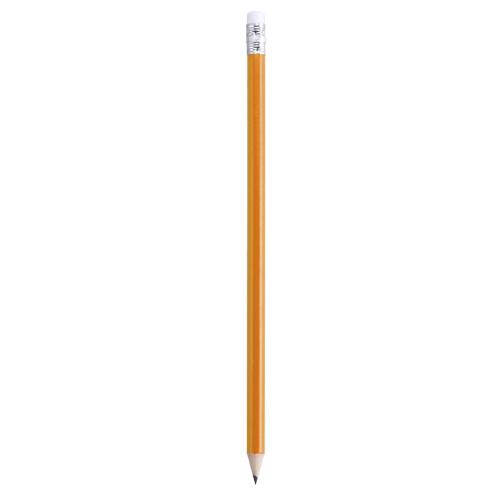 lápiz con goma naranja
