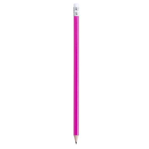 lápiz con goma rosa