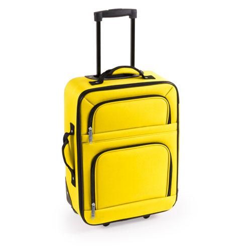 maleta trolley amarilla