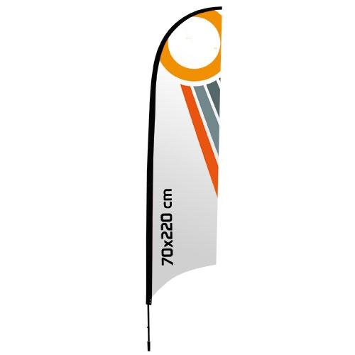 soporte para bandera forma de  vela 70×220