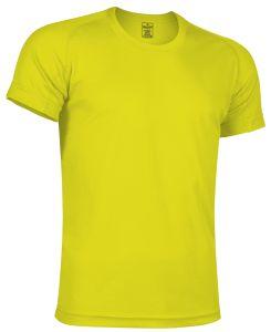 camiseta tecnica amarillo fluor
