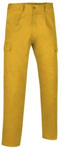 pantalon multibolsillos basico amarillo