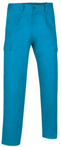 pantalon multibolsillos basico turquesa