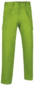 pantalon multibolsillos basico verde manzana