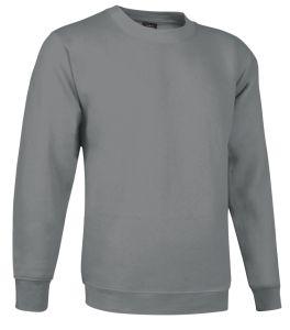 sudadera cuello redondo gris plomo