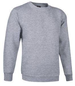 sudadera cuello redondo gris marengo