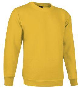 sudadera cuello redondo amarillo girasol