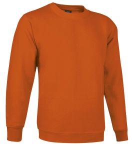 sudadera cuello redondo naranja