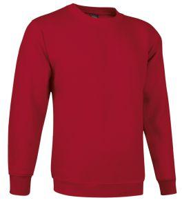 sudadera cuello redondo rojo