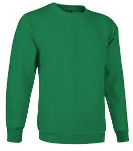 sudadera cuello redondo verde kelly