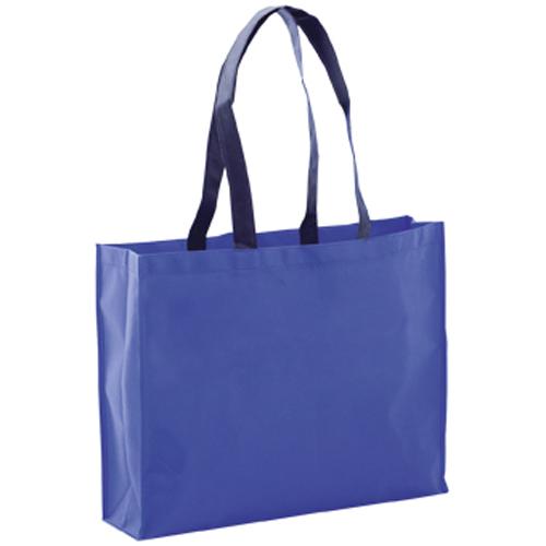 bolsa non woven grueso azul