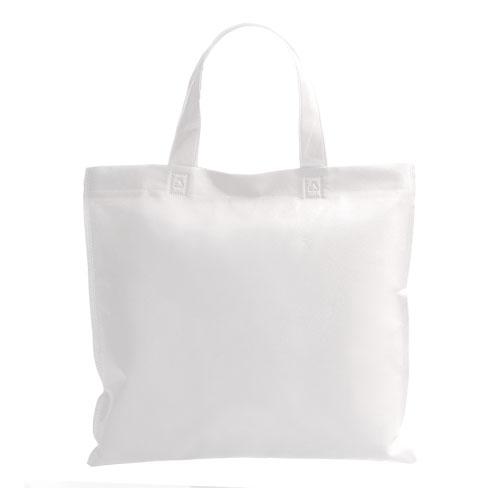 bolsa non woven asa corta blanca