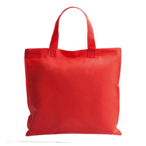 bolsa non woven asa corta roja