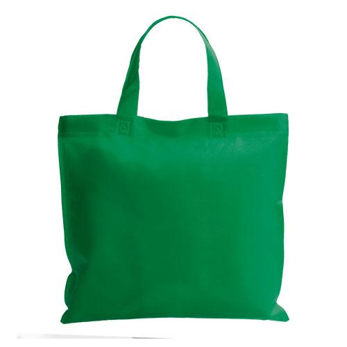 bolsa non woven asa corta verde