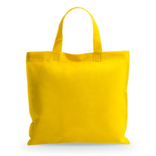 bolsa non woven asa corta amarilla