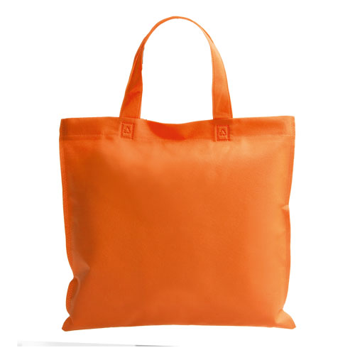 bolsa non woven asa corta naranja