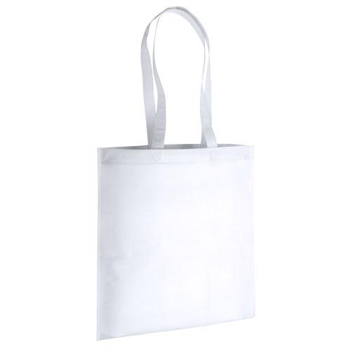 bolsa non woven asas largas termosellada blanca