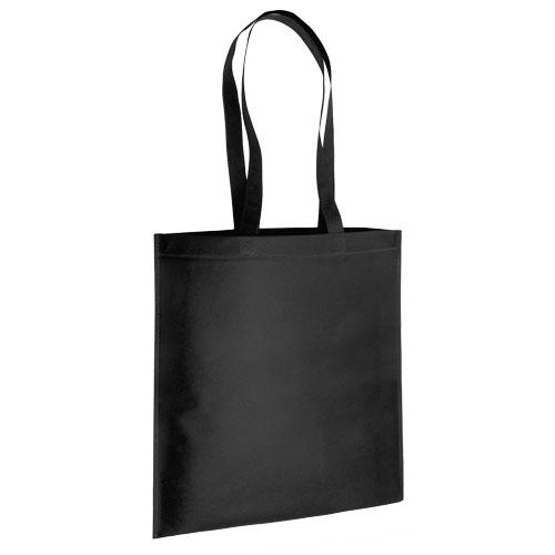 bolsa non woven asas largas termosellada negra
