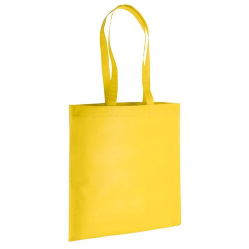 bolsa non woven asas largas termosellada amarilla