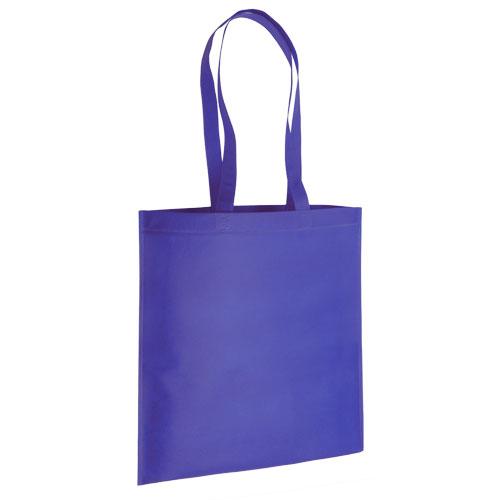 bolsa non woven asas largas termosellada azul
