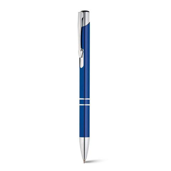 bolígrafo metálico aluminio azul