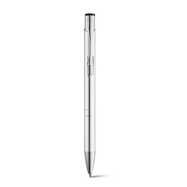 bolígrafo metálico aluminio plata
