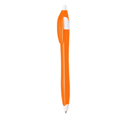 bolígrafo plástico muy económico naranja