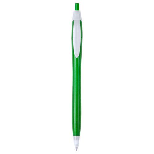 bolígrafo plástico económico verde