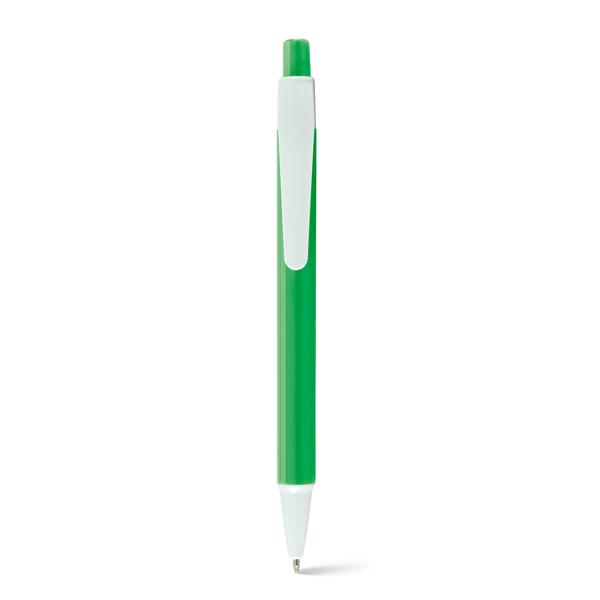 bolígrafo plástico buena personalización verde