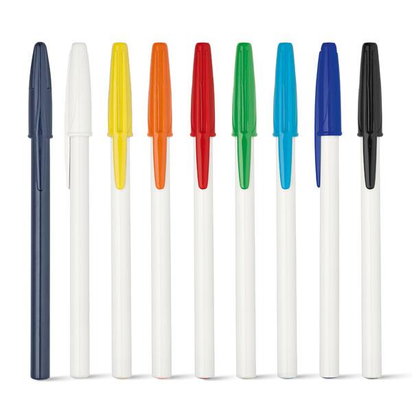 bolígrafo plástico con tapa