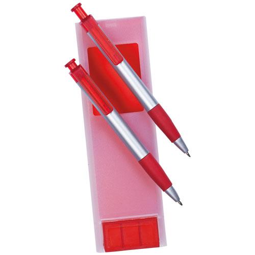 set bolígrafo portaminas rojo