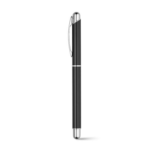 Set bolígrafo y roller metálico negro r
