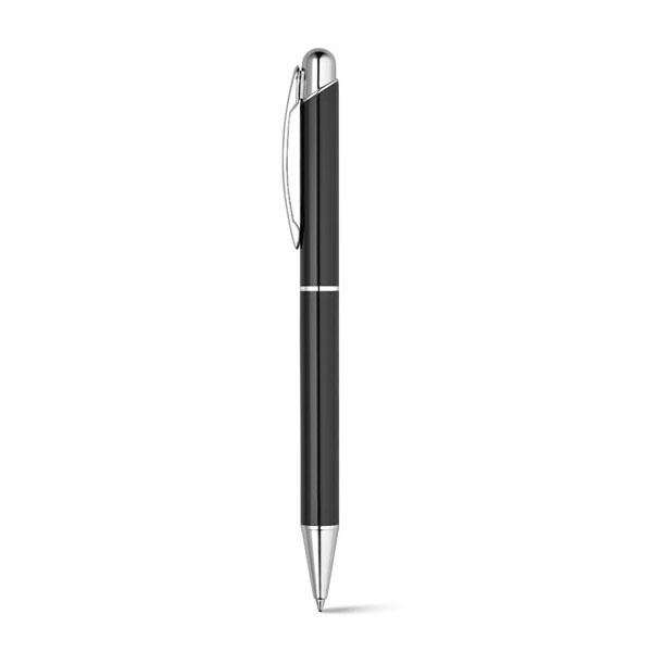 Set bolígrafo y roller metálico negro