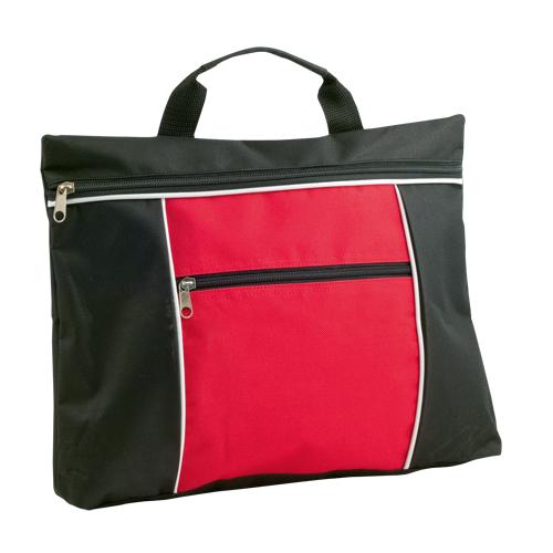 Portadocumentos básico poliéster bicolor rojo