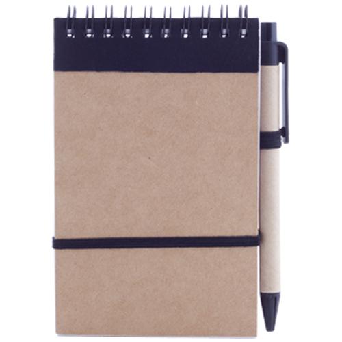 Libreta cartón reciclado vertical negro