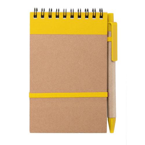 Libreta cartón reciclado vertical amarillo