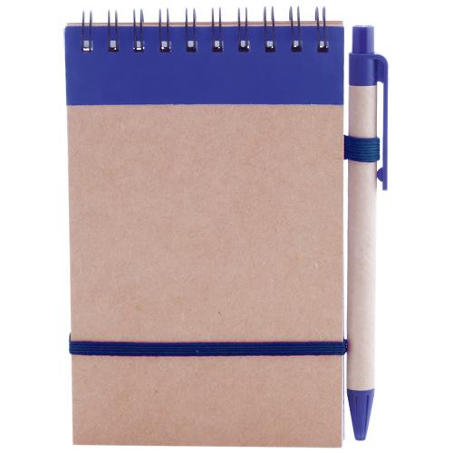 Libreta cartón reciclado vertical azul