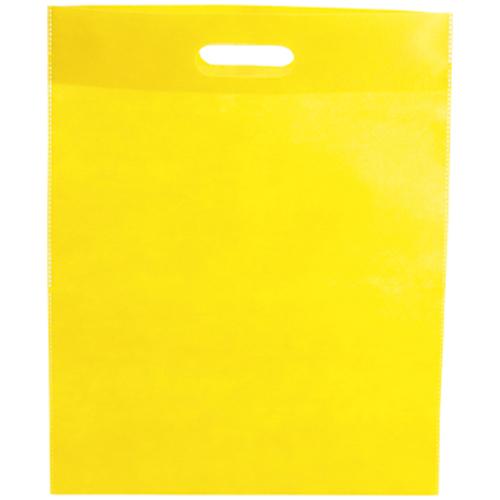 Bolsa non Woven asa troquelada amarilla